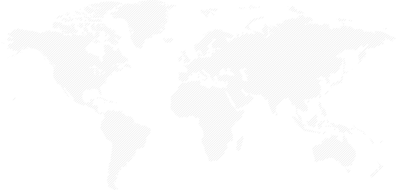 World map with all establishment over multiple countries